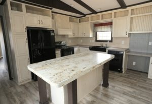 Picture Of Fleetwood Green Hill 16763L Mobile Home Of Kitchen