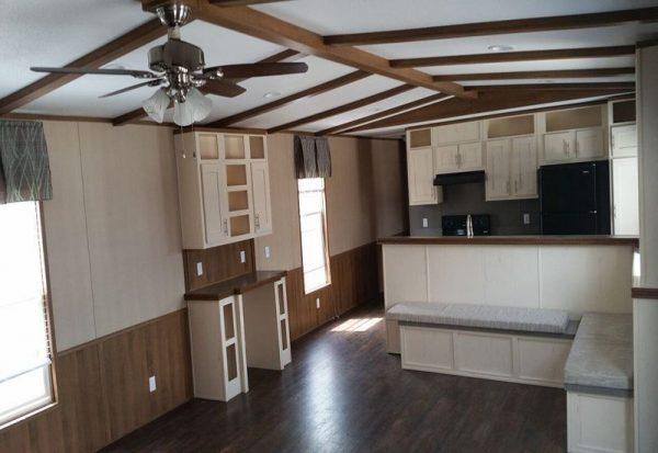 CMH Sierra Vista SEV16803Q Mobile Home Living Room and Kitchen