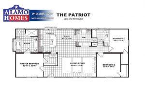 PATRIOT-Branded Floor Plan - Alamo Homes