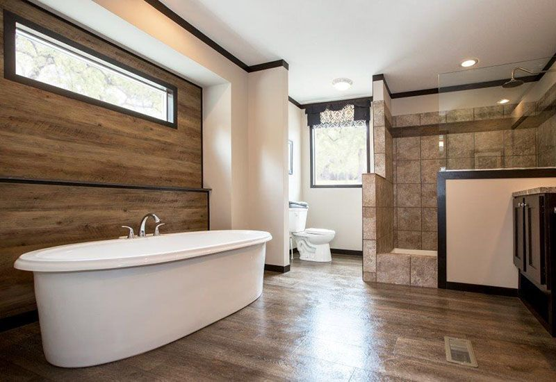 Picture Of CMH Patriot PAT28563A Mobile Home Master Bathroom