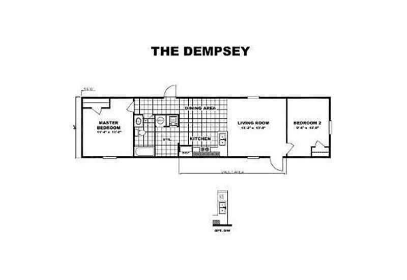 TruMH Dempsey Mobile Home Floor Plan