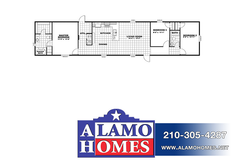 The Real Deal RDX16763V Mobile Home Branded Floor Plan