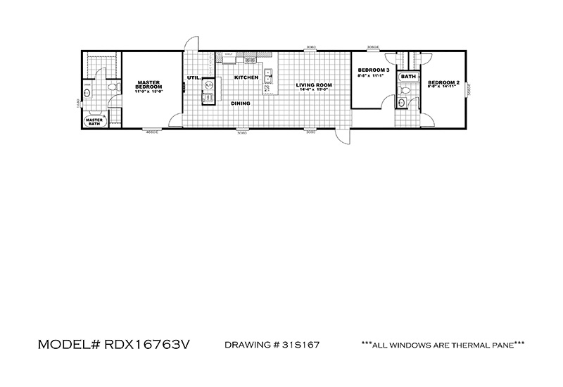 The Real Deal RDX16763V Mobile Home Floor Plan