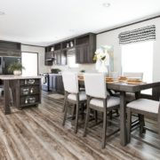 THE SUNDOWNER Mobile Home Kitchen and Dining Area