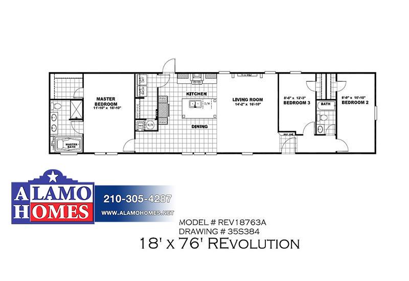 REVOLUTION REV18763AH Mobile Home Branded Floor Plan