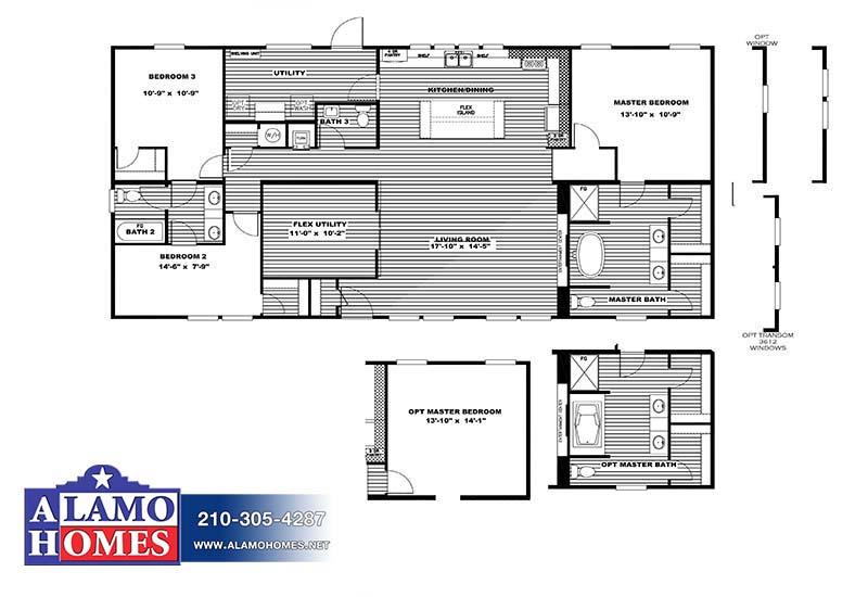 Clayton Farmhouse - Mobile Home - Branded Floor Plan