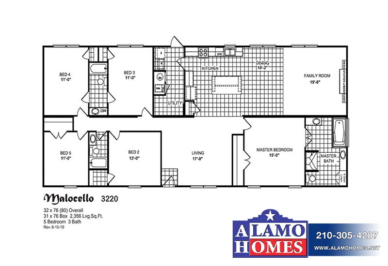Merdian Malocello - Mobile Home - Branded Floor Plan