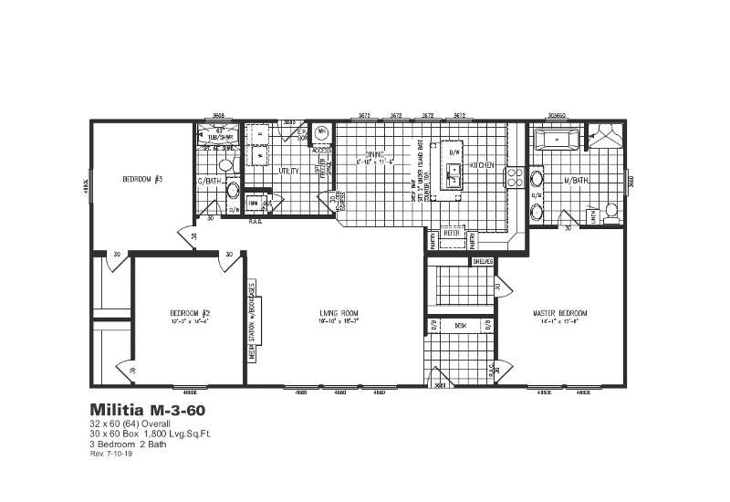 M3 – M360 — Floor Plan