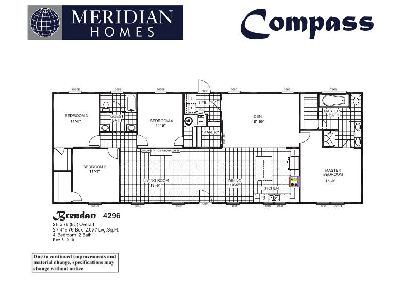 Brendan 4296 – Floor Plan