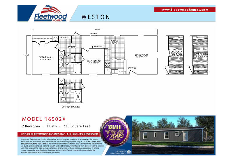 WE16502X – Floor Plan