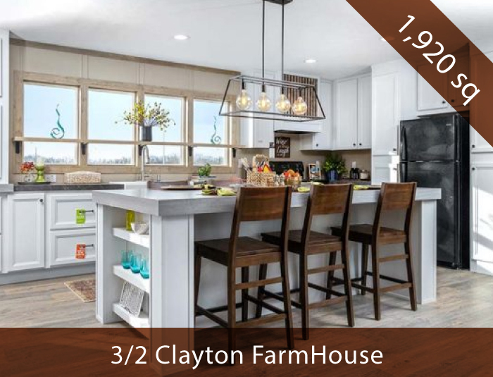 """New 3 Bed 2 Bath Clayton Farmhouse"