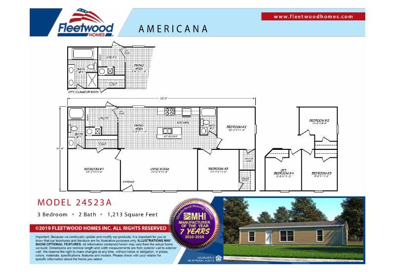 Americana 2452 – Floor Plan