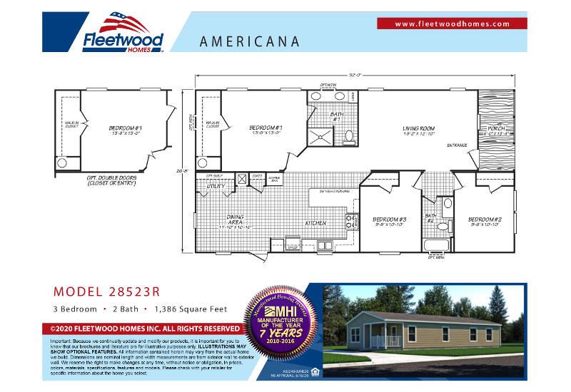 Americana 2852 – Floor Plan