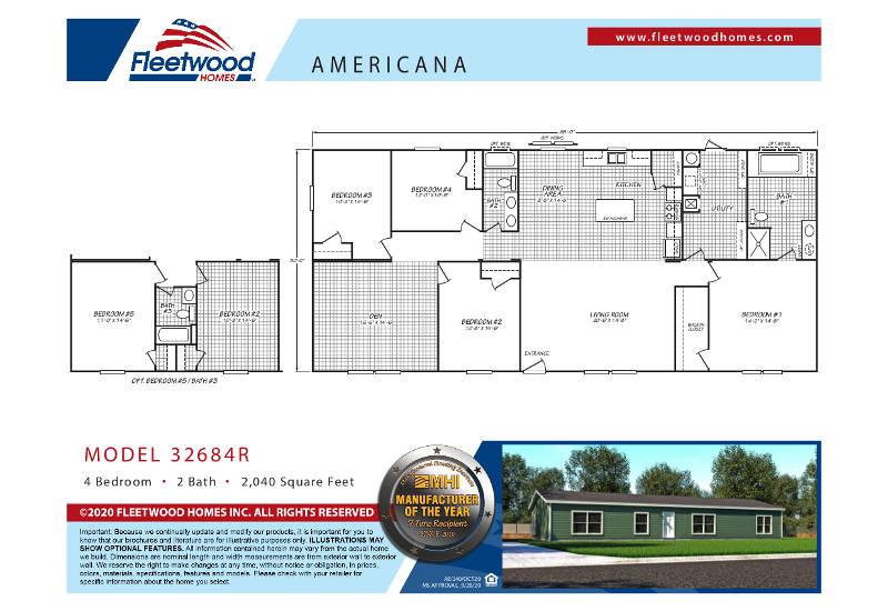 Americana 3268 – Floor Plan